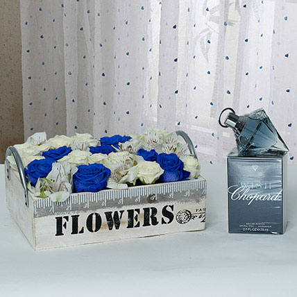 Exclusive Flower Arrangement With Fragrant Perfume