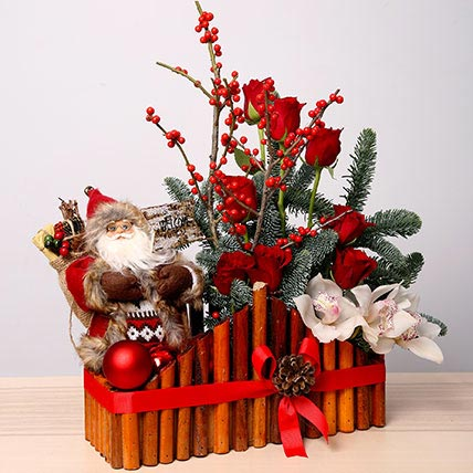 Christmas Flower Arrangements.Exotic Christmas Arrangement