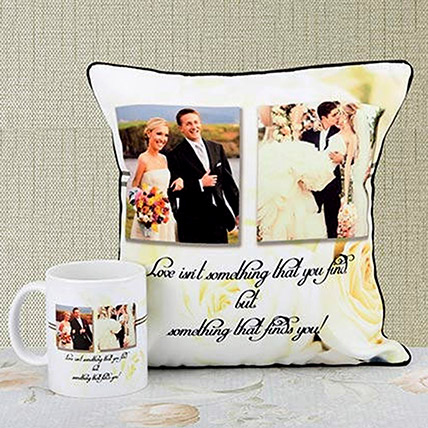 Find Love Personalised Cushion and Mug Combo