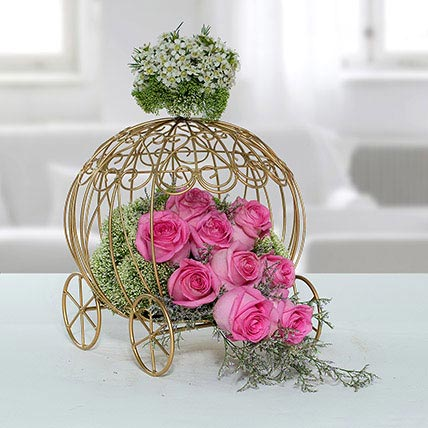 Fresh Pink Rose Arrangement