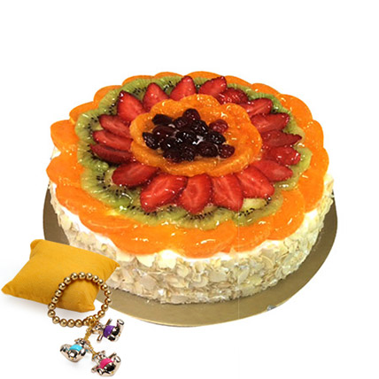 Fruit Cake with Rakhi