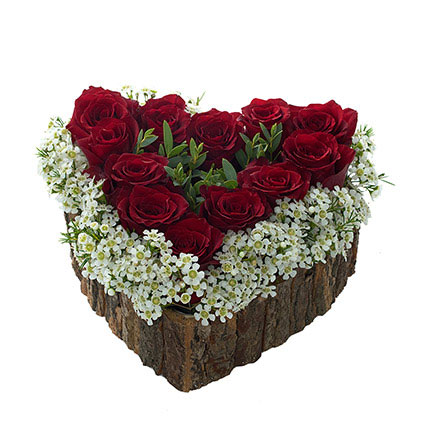 Heart Shaped Red Rose Arrangement