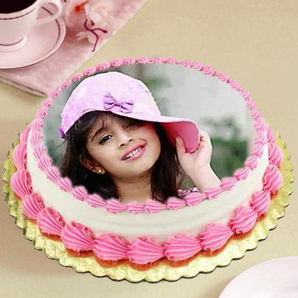 Heavenly Photo Cake Eggless 3 Kg Vanilla Cake