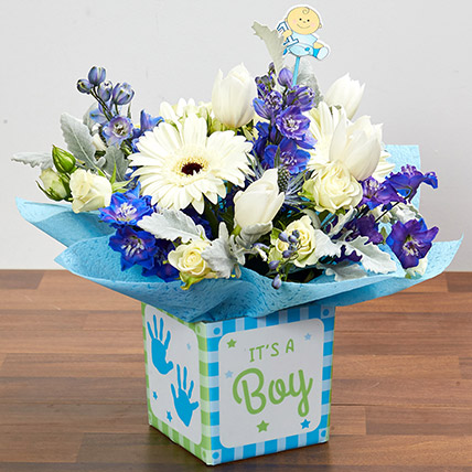 It's A Boy Flower Vase
