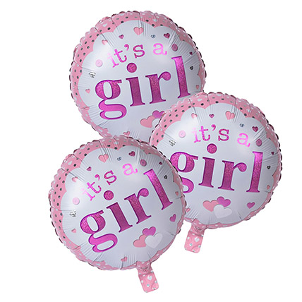 Its A Girl Foil Balloons