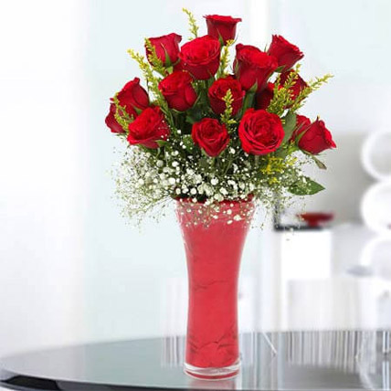 Long Stem Red Roses Deluxe