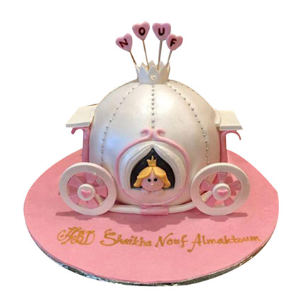 Lovely princess Carriage Cake