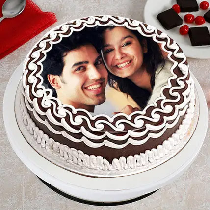 Personalized Cake of Love Eggless 1 Kg Truffle Cake