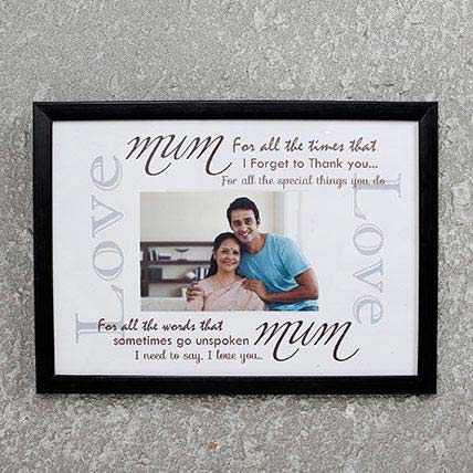 Personalized Frame For Mom Black
