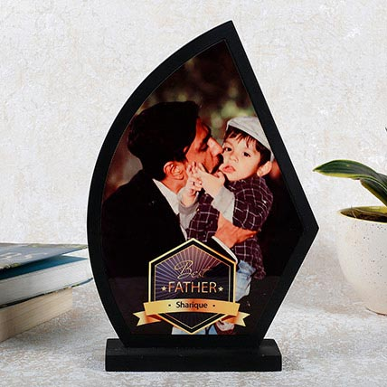 Personalized Wooden Trophy For Dad