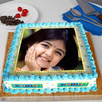 Radiant Photo Cake Eggless 2 Kg Vanilla Cake