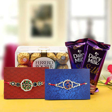 Rakhi with delectable chocolates