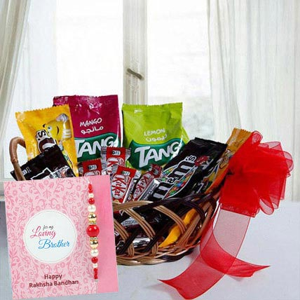 Rakhi with Gift Basket