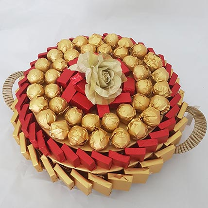 Red and Golden Chocolate Tray