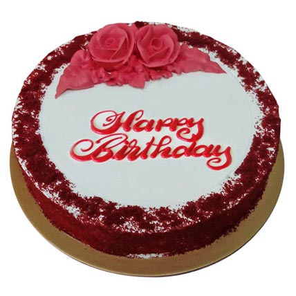 Red Velvet Birthday Cake Half Kg