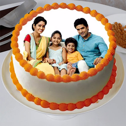Sizzling Round Personalized Cake Eggless 1 Kg Butterscotch Cake