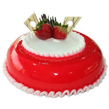 Strawberry Round Cake 8 Portion