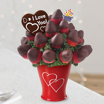 Sweetheart Bouquet with Belgian Chocolate Pop