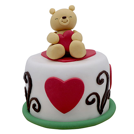 Teddy Cake For Valentines Day