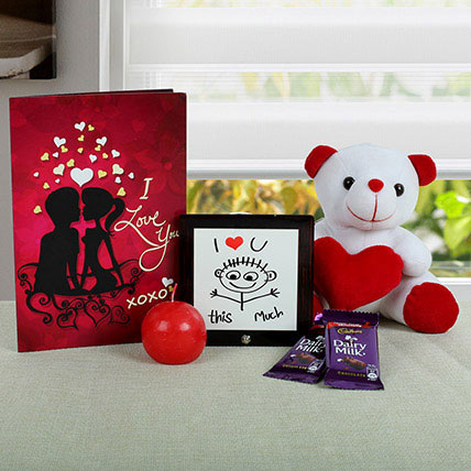 Teddy N Chocolates Combo