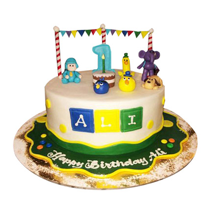 Amazing Happy Pocoyo Cake In Uae Gift Happy Pocoyo Cake Ferns N Petals Funny Birthday Cards Online Elaedamsfinfo