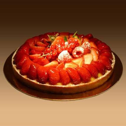 Strawberry Tart 4 Portion