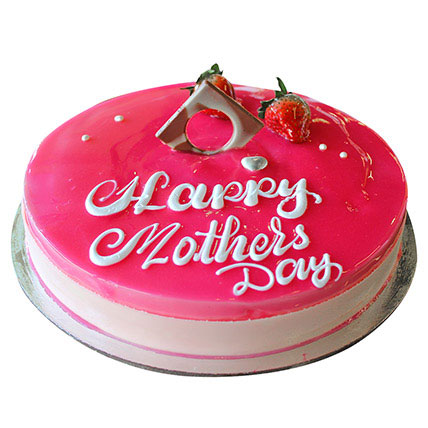 Happy Mothers Day Strawberry Cake