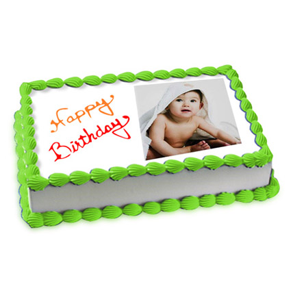 Welcoming Photo Cake Eggless 3 Kg Vanilla Cake