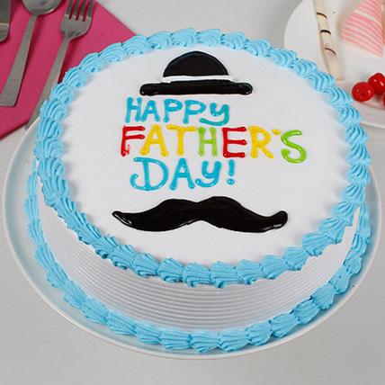 Hat And Moustache Cream Cake