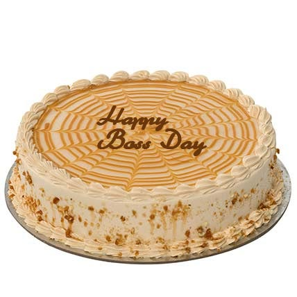 1Kg Butterscotch Boss Day Cake