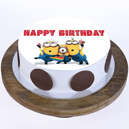 Minions Blackforest Cake 1 Kg Eggless