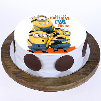 Funny Minions Butterscotch Cake 1 Kg