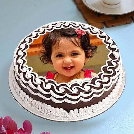 Decorative Photo Cake Eggless 1 Kg Vanilla Cake