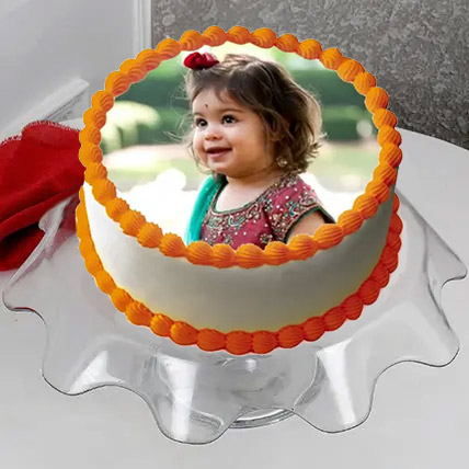 Delectable Photo Cake Eggless 2 Kg Butterscotch Cake