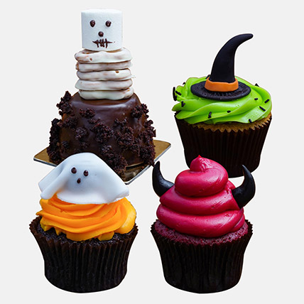 Delicious Spooky Chocolate Cupcakes