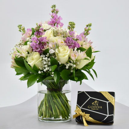 Exotic Blossoms and Godiva Chocolate Bar