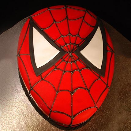 Spiderman Chocolate Face Cake