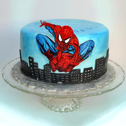 Spiderman Designer Red Velvet Cake