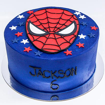 Designer Spiderman Red Velvet Cake