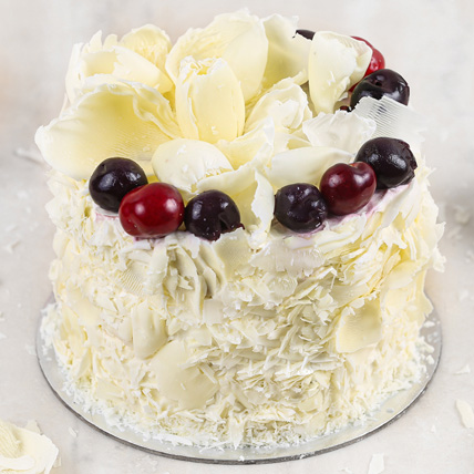 Vegan White Forest Cake- 1 Kg