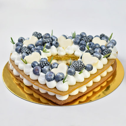 Heart To Heart Blueberry Cake