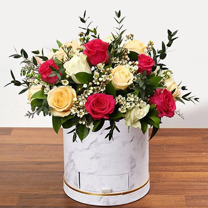 Beautiful Mixed Roses Arrangement OM