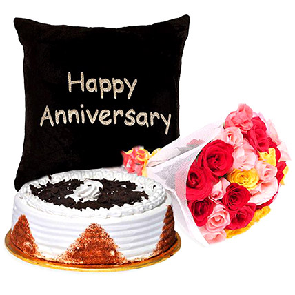 Happy Anniversary Sweet Floral Combo