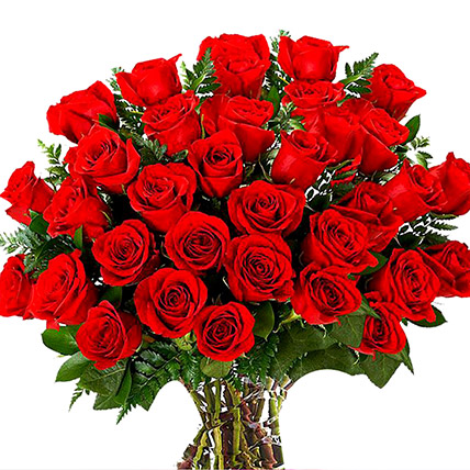 Vase Of 100 Red Roses