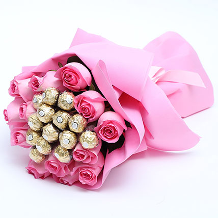 Special Roses And Ferrero Rocher Bouquet