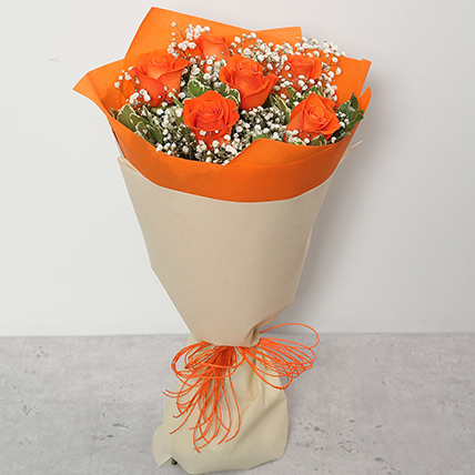 Bouquet Of Orange Roses QT