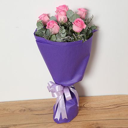 Bouquet Of Pink Roses QT