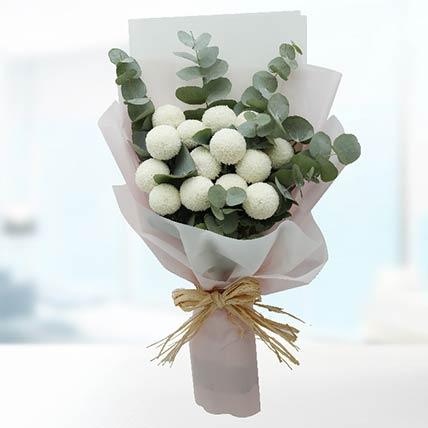 Elegant White Ping Pong Bouquet