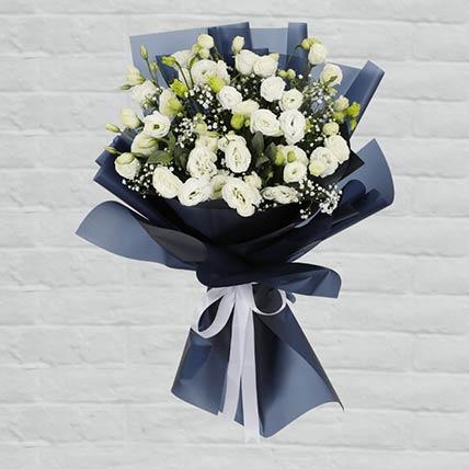 White Lisianthus Bouquet