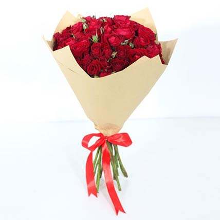10 Stems Of Red Spray Roses Bouquet